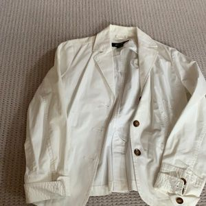 Eddie Bauer size medium white blazer